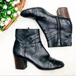 Frye Stella Ankle Boots Zip Short Leather 8.5